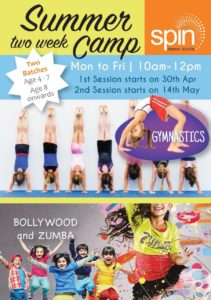 Summer Camp for Gymnastics, Bollywood and Zumba @ Ashok Nagar and Kilpauk Branches